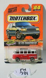 Matchbox MBX Science Fiction 67 VW Transporter #64 FNQHotwheels FM381