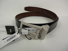 Gap Men's Reversible Leather Belt 30 BLACK BROWN Made in USA