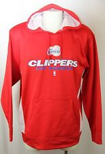 New Los Angeles Clippers Hoodie Hood Sweatshirt Red Screen Print Men XL MSRP $70
