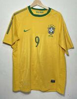 Nike Brazil Soccer Jersey Yellow Green Brasil Ronaldo Futbol DriFit | XL