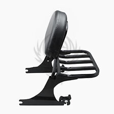 Black Backrest Sissy Bar and Rack for Harley Softail 200mm 06-UP