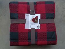 Red & Black Buffalo Plaid Check Throw Blanket Sleep Philosophy Microfiber Xmas