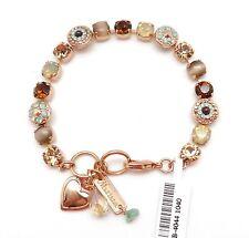 "MARIANA 1040 ""Serai"" Topaz & Opal Mix Circle Swarovski Rose Gold Bracelet 7 - 8"""