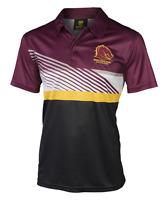 Brisbane Broncos NRL 2017 Classic Winter Polyester Polo Shirt Size S-5XL!