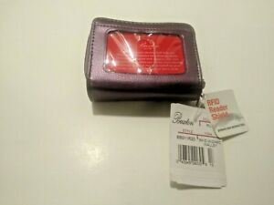 Buxton RFID Wizard Wallet (Plum) New Old Stock with Tags