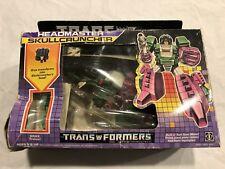 Transformers G1 Vintage Headmaster Skullcruncher SEALED on card 1986 MIB New