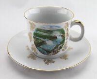 Vintage Souvenir Tea Cup & Saucer Schwarzenhammer Bavaria - Niagara Fall, Canada