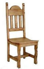Rustic Plain Wood Seat Chair Solid Wood Western Cabin Lodge Dinning Room