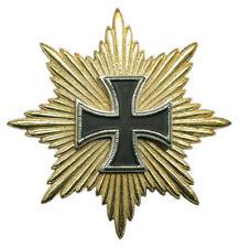 German Army War Battle Officer Iron Cross Star Ribbon Medal Hat Badge Pin Cap S