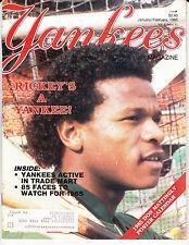 NEW YORK YANKEES BASEBALL MAGAZINE Jan Feb 1985 DON MATTINGLY POSTER CALENDAR