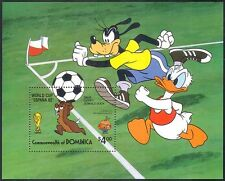 Dominica 1982 Disney/World Cup Football/Soccer/WC/Sports/Animation m/s ref:b1483