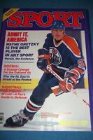 1984 Sport Magazine EDMONTON Oilers WAYNE GRETZKY No Label FREE SHIPPING N/Label