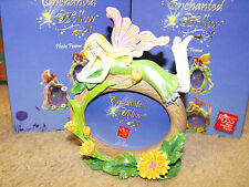 "Fairy Photo Frame Oval  3"" x 2"" New Enchanted Hollow - Yellow Flowers"