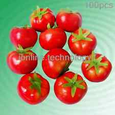 100ARTICIFICAL TOMATOES FAKE FRUIT FAUX VEGETABLES DECOR CHILDREN Teaching props