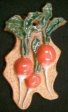Red RADISH Vegetable Handmade Ceramic Stoneware Tile Kitchen Decor Garden Marker