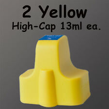 2 Yellow HP02 Ink 02xl For HP D7275 D7288 D7355 13ml