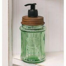 New Green Glass Soap DIspenser for Bathroom/Kitchen