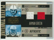 AHMAN GREEN Packers Nebraska 2006 Gridiron Gear DUAL GAME WORN JERSEY Card #/100