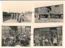 Foto colección 8x rusia italiana Alpini ferrocarril vagones campo cocina niños
