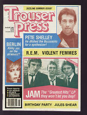 TROUSER PRESS 88/1983 JAM BIRTHDAY PARTY VIOLENT FEMMES BUZZCOCKS R.E.M. BERLIN
