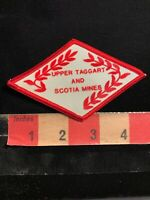 Red On White UPPER TAGGART AND SCOTUA MINES Coal Mining Advertising Patch 02NW