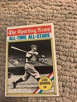 #341 Lou Gehrig 1976 Topps Baseball Card Cb17