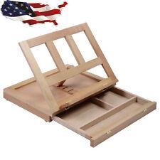 Folding Portable Artist Desk Easel Wood Multi Positions Sketching Sketch Drawer