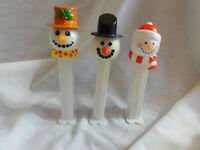 Pez Lot 3 Christmas Snowman Issue C, D, & F