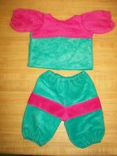 """TURQUOISE+PINK VELOUR SETS  for 16-18"""" CPK Cabbage Patch Kids --COLOR CHOICE"""