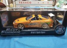 1:18 Brian's 1995 Toyota Supra - Fast & Furious Orange Supra Car Jada Nice Shape