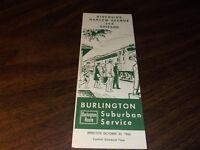 OCTOBER 1966 CB&Q BURLINGTON ROUTE RIVERSIDE, ILLINOIS PUBLIC TIMETABLE