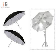 """2pcs 33 """" Umbrella / 84cm Photography Studio Umbrella Light Silver & Black"""