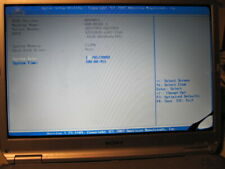 Sony Vaio  PCG-7144M  laptop Bios boot