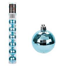 Christmas 8 Pack 50mm Disco Baubles Tree Decoration - Glaçon Blue