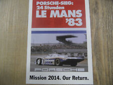 PORSCHE Postkarte Mission 2014 Our Return SR318