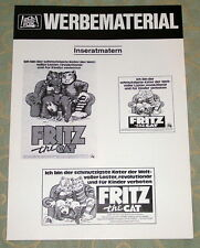 Ralph Bakshi FRITZ THE CAT original Werberatschlag