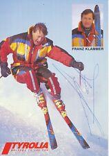 Franz Klammer  Österreich  Ski Alpin Autogrammkarte orig. signiert 397126