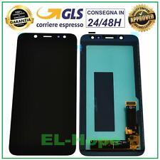 DISPLAY LCD SAMSUNG GALAXY A6 2018 A600 SM-A600F TOUCH SCREEN SCHERMO VETRO NERO