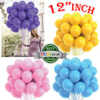 "10-100 Plain Helium Quality BALLOONS 12""inch BALONS BALLONS Birthday Wedding Dec"