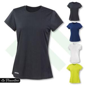 Spiro Womens Quick-Dry Short Sleeve T-Shirt Gym Top Jogging Running Yoga Sports