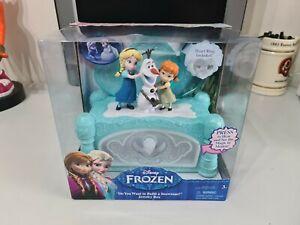 Disney Frozen Do You Want To Build A Snowman Musical Jewellery Box Anna Elsa NEW