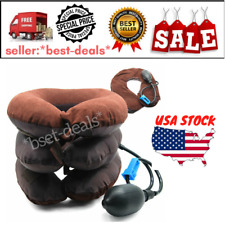 Air Inflatable Pillow Cervical Neck Head Pain Traction Support Brace US SHIP
