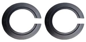 2 NEW! E27 to E14 Black Plastic Lamp Shade Ring Converter, Reducer Rings