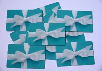 Lot of 10 Tiffany & Co with $0 No Value Collectible Blue Used Gift Cards