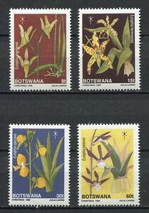 28441) Botswana 1989 MNH New Flowers Orchids 4v
