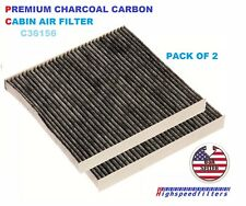 PACK OF 2 CARBONIZED CABIN AIR FILTER FOR DODGE DURANGO & JEEP GRAND CHEROKEE