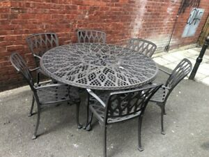 Cast Iron Garden Table and Chairs - CIS T22
