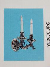 Heidi Ott Dollhouse Miniature Light 1:12 Scale Wall Double Lamp #YL2070