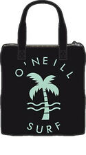 O'NEILL WOMENS COTTON BAG.SUMMER SURFIVAL ZIPPED BLACK SHOPPING BEACH 6S/9044/90