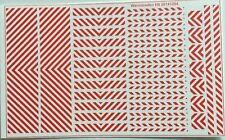 Warnstreifen rot/weiß Decals 1:87 oder H0